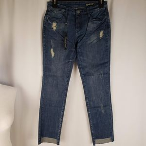 Blank NYC Intro Straight Leg Raw Step Hem Jeans 25